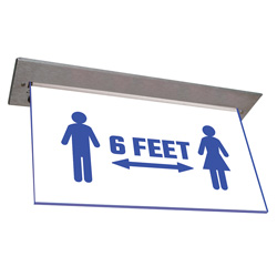 900E-SD Series Architectural Edge-Lit Social Distancing Sign